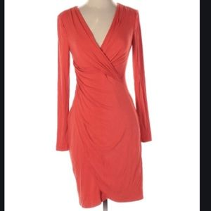 Kay Unger red 3/4 sleeve dress NWT